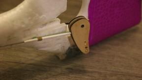 Misen en place du système, sur une cap 0.8mm qui va jusqu'au servo.