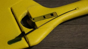 I reinforced the rudder hinge line using Blenderm attached to the fixed part of the rudder.